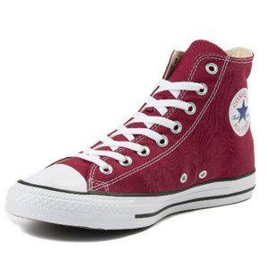 Burgundy Converse Size 7 High Top Sneaker
